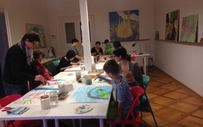 Mutter-Kind-Malen | Vater-Kind-Malen